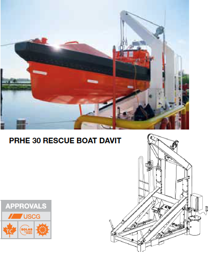 NED-DECK Fast Rescue Boat Davit-example
